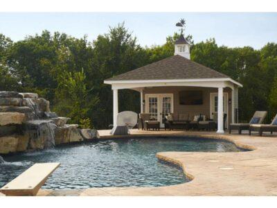 #37 (16' x 16' Custom Hip Roof Pool House Shed)