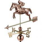 $625.00 - Jumping Horse & Rider With Arrow Weathervane