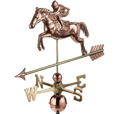 $525.00 - Jumping Horse & Rider With Arrow Weathervane