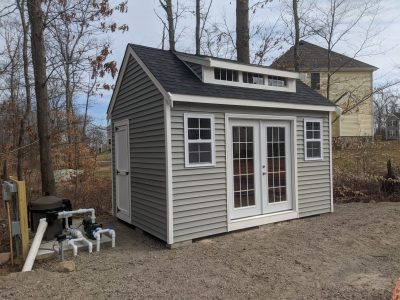 #16 (10' x 14' Vinyl Custom Shed With 8' Shed Dormer)