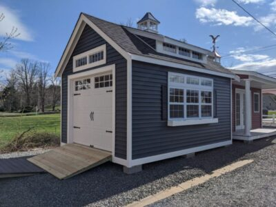 #1 (12' x 16' Vinyl Custom Shed With 8' Shed Dormer)