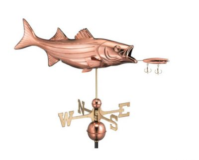 $475.00 - Bass With Lure Weathervane
