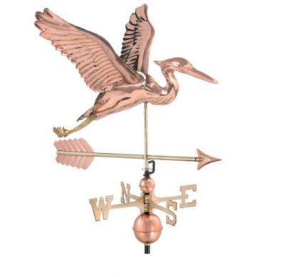$525.00 - Blue Heron With Arrow Weathervane