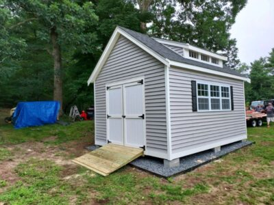 #62 (12' x 16' Vinyl Custom Shed With 8' Shed Dormer)