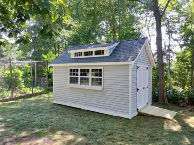 #43 (10' x 16' Vinyl Custom Shed With 8' Shed Dormer)