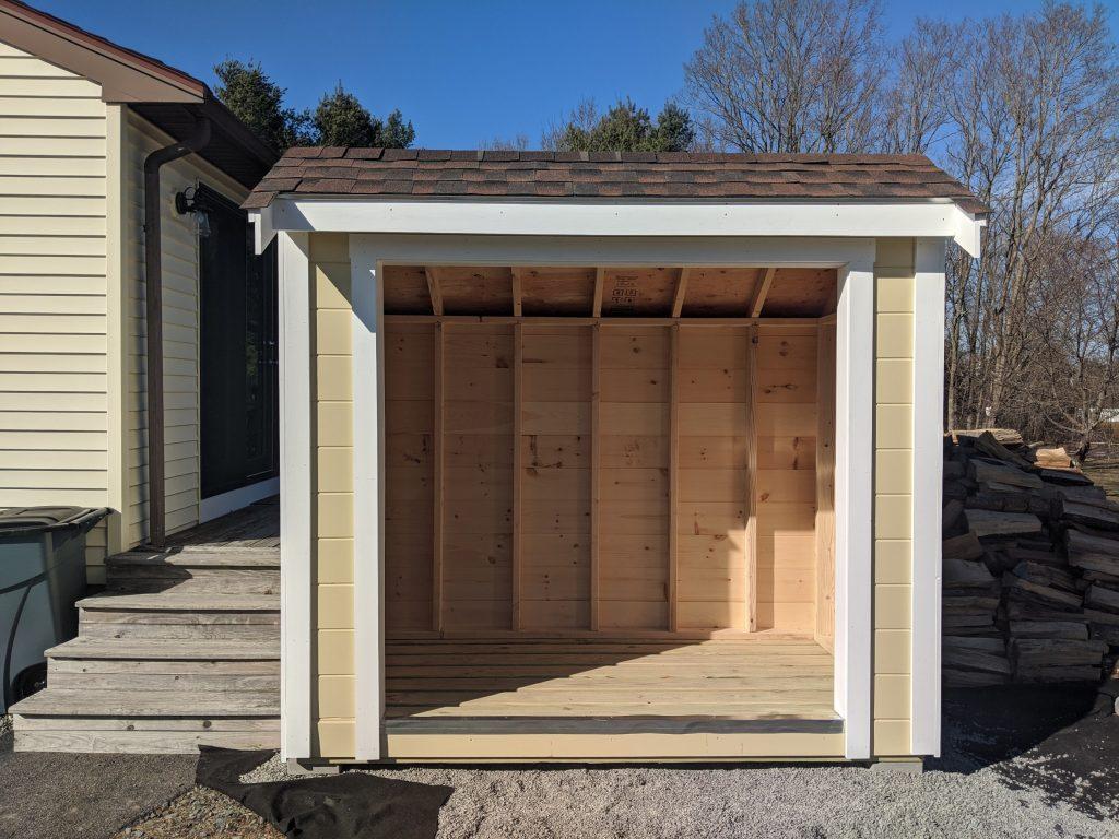4' x 8' Firewood Storage Shed