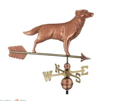 $500.00 - Golden Retriever With Arrow Weathervane