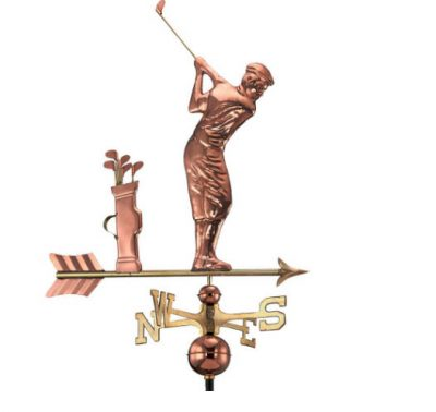 $450.00 - Golfer With Arrow Weathervane