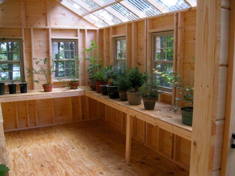 10' x 16' Pine Greenhouse