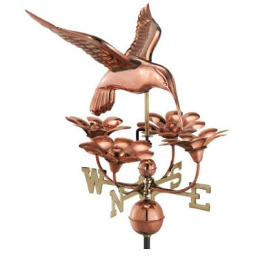 $500.00 - Hummingbird With Flowers Weathervane