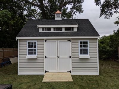 #19 (12' x 16' Vinyl Custom Shed With 8' Shed Dormer)