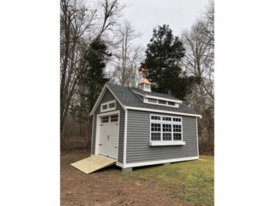 #4 (12' x 16' Vinyl Custom Shed With 8' Shed Dormer)