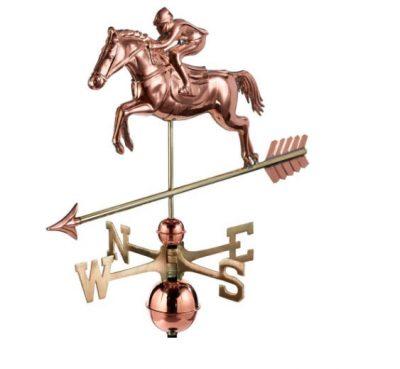 $375 - Jumping Horse & Rider Weathervane