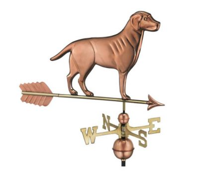 $475.00 - Labrador Retriever With Arrow Weathervane