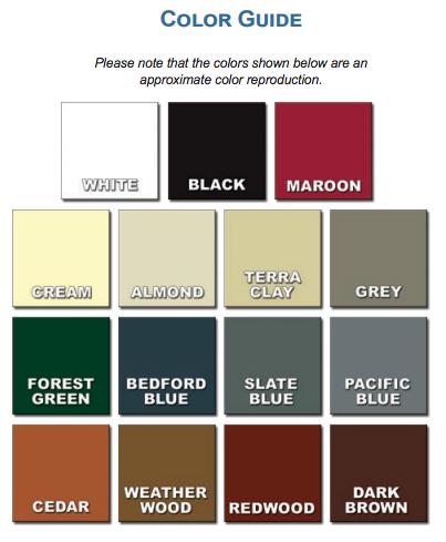 Raised Panel Shutter Colors