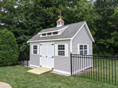 #46 (12' x 16' Vinyl Custom Shed With 8' Shed Dormer)