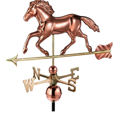 $375.00 - Smithsonian Running Horse With Arrow Weathervane