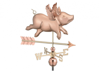 $500.00 - Flying Pig With Arrow Weathervane