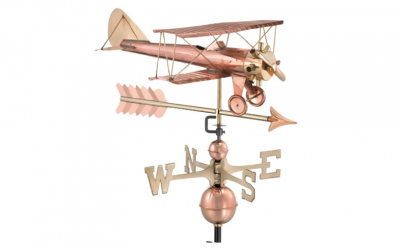 $550.00 - Biplane With Arrow Weathervane