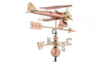 $400.00 - Biplane With Arrow Weathervane