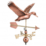 $500.00 - Flying Duck With Arrow Weathervane