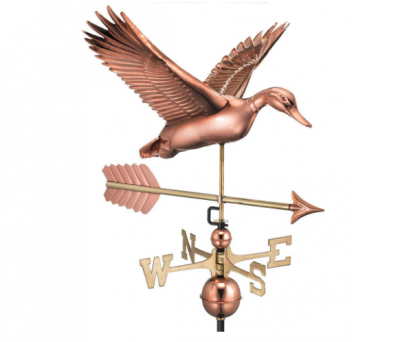 $500.00 - Flying Duck With Arrow Weathervane