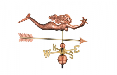 $500.00 - Mermaid With Starfish With Arrow Weathervane