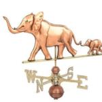 $675.00 - Elephant With Baby Weathervane