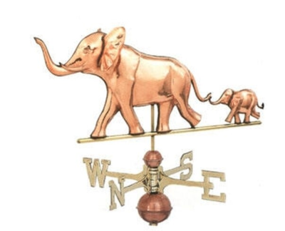 $675.00 - Elephant With Baby Weathervane