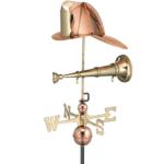 $575.00 - Fireman Hat & Horn Weathervane