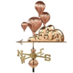 $575.00 - Hot Air Balloon With Arrow Weathervane
