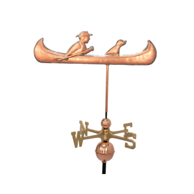 $750.00 - Man & Dog In Canoe Weathervane