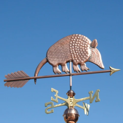 $600.00 - Armadillo With Arrow Weathervane