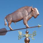 $900.00 - Buffalo With Arrow Weathervane