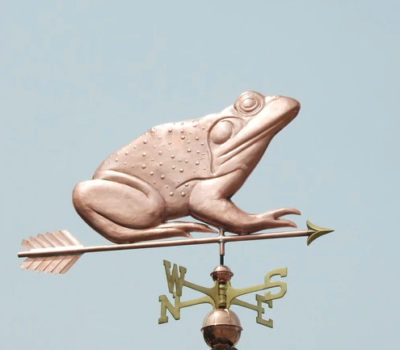 $775.00 - Bullfrog With Arrow Weathervane
