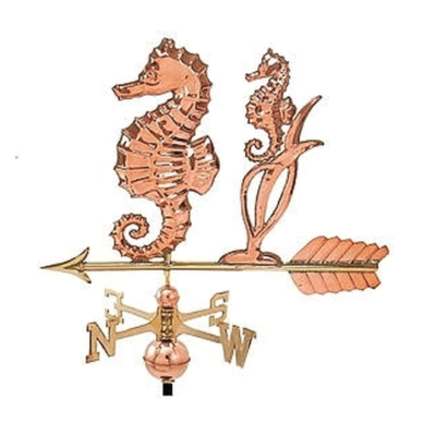 $600.00 - Seahorse With Arrow Weathervane