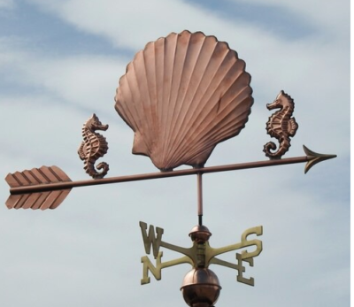 $750.00 - Sea Shell With Arrow Weathervane