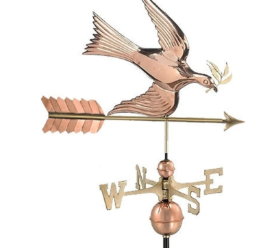 $600.00 - Peace Dove With Arrow Weathervane