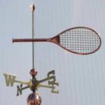 $525.00 - Tennis Racket Weathervane