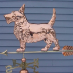 $600.00 Terrier With Arrow Weathervane