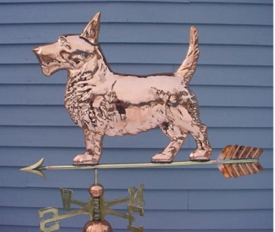 $600.00 Terrier With Arrow Weathervane