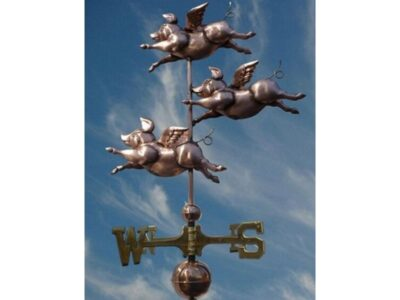$700.00 - Three Flying Pig Weathervane