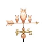 $575.00 - Three Owls With Arrow Weathervane