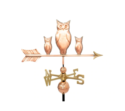 $575.00 - Three Owls With Arrow Weathervane