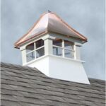 "#5 20"" Composite Vinyl Glass Cupola With Concave Copper Roof"