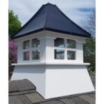 "#6 20"" Composite Vinyl Glass Cupola With Concave Black Aluminum Roof"