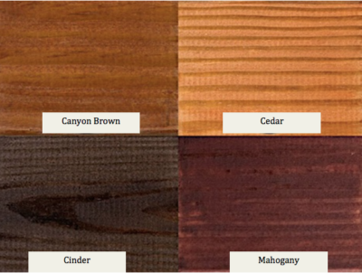 Wood Pavlion Stain Colors