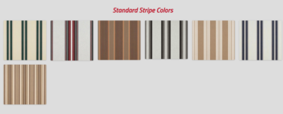 EZ Shade Canopy Standard Striped Colors