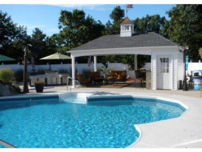 #38 (12' x 22' Custom Hip Roof Pool House Shed)