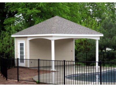 #39 (16' x 16' Custom Hip Roof Pool House Shed)